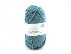"Coton à tricoter ""cotton print"" - 001 Rose blanc bleu jaune"