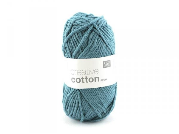 "Cotton knitting yarn - ""Creative Cotton"" - petrol blue (colour no. 47)"