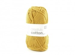 "Cotton knitting yarn - ""Creative Cotton"" - mustard (colour no. 70)"