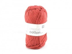 "Cotton knitting yarn - ""Creative Cotton"" - red (colour no. 65)"