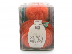 Kit crochet chunky - bonnet orange