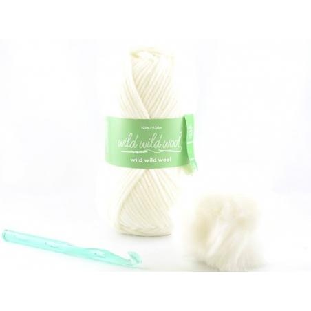 Kit crochet - bonnet blanc Rico Design - 1