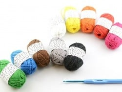 10 mini pelotes coton - classique