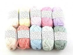 10 mini pelotes - pastel