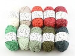 10 mini pelotes coton - Noël