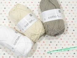 """Strickwolle - """"Creative Cotton"""" - naturweiß (Farbnr. 60)"""