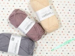"Coton à tricoter ""Creative Cotton"" - vieux rose 61"