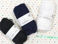 """Coton à tricoter """"Creative Cotton"""" - bleu marine 38"""