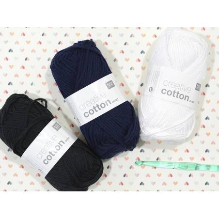 """Acheter Coton à tricoter """"Creative Cotton"""" - noir 90 - 2,79€ en ligne sur La Petite Epicerie - Loisirs créatifs"""