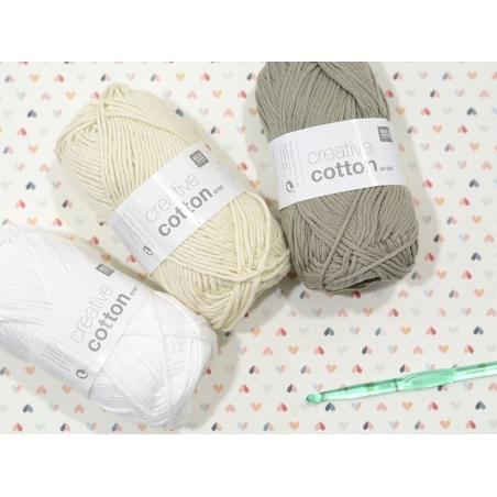 "Cotton knitting yarn - ""Creative Cotton"" - lead grey (colour no. 52)"