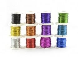 12 bobines de fils acier de bricolage