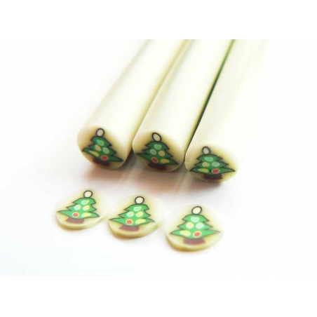 Christmas tree cane - with baubles