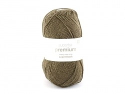 "Knitting wool - ""Superba Premium"" - Dark brown"