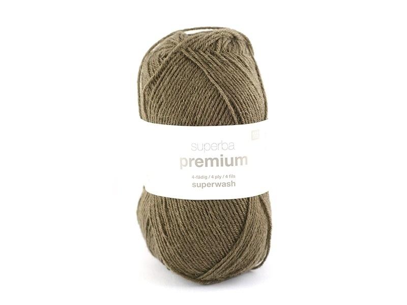"""Laine à tricoter """"Superba Premium"""" - Brun foncé"""
