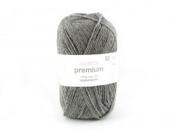 """Laine à tricoter """"Superba Premium"""" - Gris mélangé"""