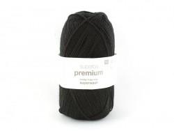 """Knitting wool - """"Superba Premium"""" - Black"""