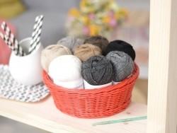 """Laine à tricoter """"Superba Premium"""" - Noir"""
