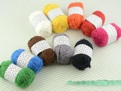 10 mini pelotes acrylique - classique