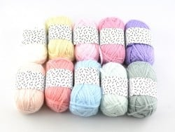 10 mini pelotes acrylique - pastel
