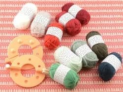 10 mini pelotes acrylique - Noël