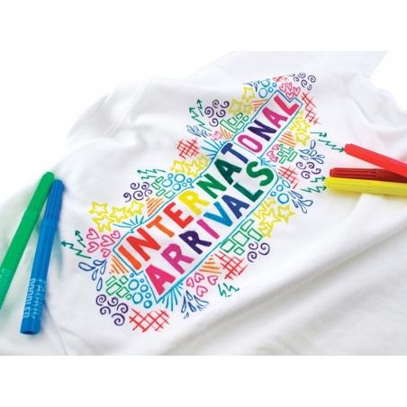 12 feutres à tissus - couleurs vives