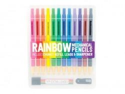 12 Druckbuntstifte - mit Ersatzminen und Anspitzer