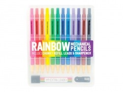 12 mechanical coloured pencils - incl. refill and a sharpener