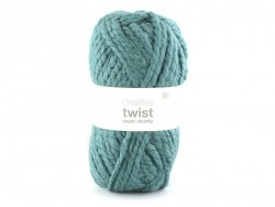 "Knitting wool - ""Twist"" - Petrol blue"