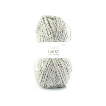 Acheter Laine à tricoter Twist - Gris clair - 9,95€ en ligne sur La Petite Epicerie - Loisirs créatifs