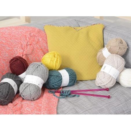 "Knitting wool - ""Twist"" - Light grey"