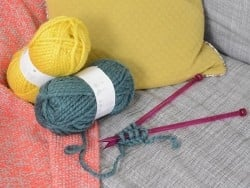 "Knitting wool - ""Twist"" - Yellow"