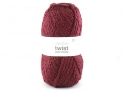 "Knitting wool - ""Twist"" - Burgundy"