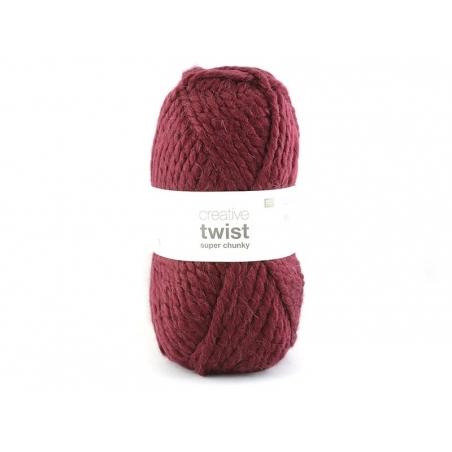"""Knitting wool - """"Twist"""" - Burgundy"""