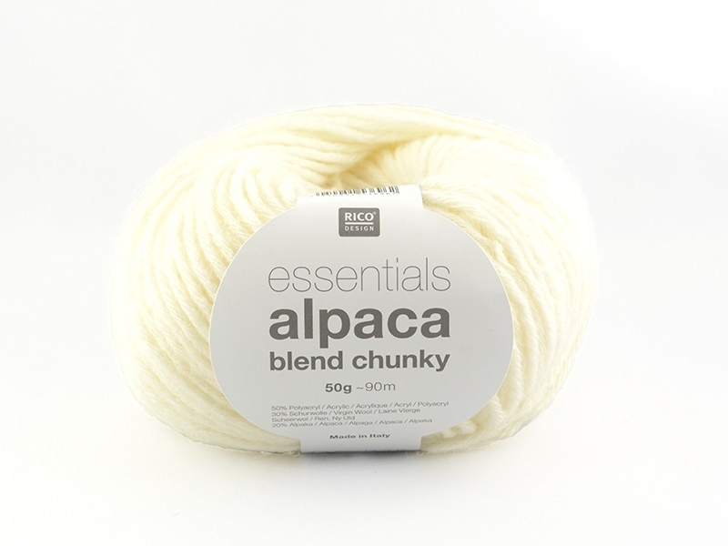 "Knitting wool - ""Essentials - Alpaca Blend Chunky"" - Cream"