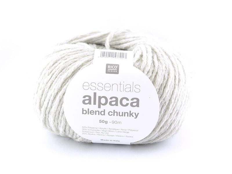 "Knitting wool - ""Essentials - Alpaca Blend Chunky"" - Light grey"