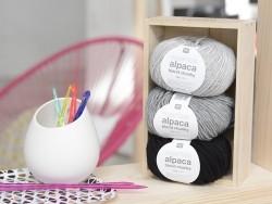 Laine à tricoter Essentials Alpaga Blend Chunky - Noir