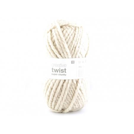 Laine à tricoter Twist - Nature Rico Design - 1