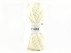 "Knitting wool - ""Twist"" - Cream"