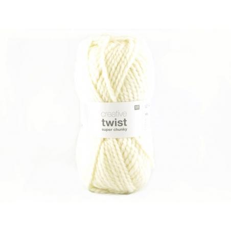 Laine à tricoter Twist - Crème Rico Design - 1