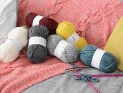 Laine à tricoter Twist - Crème