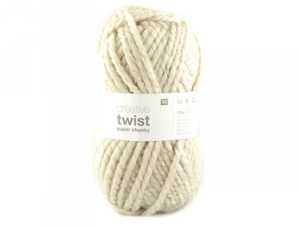"Knitting wool - ""Twist"" - Beige"