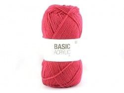 """Acheter Laine à tricoter """"Basic Acrylic"""" - framboise - 3,30€ en ligne sur La Petite Epicerie - Loisirs créatifs"""