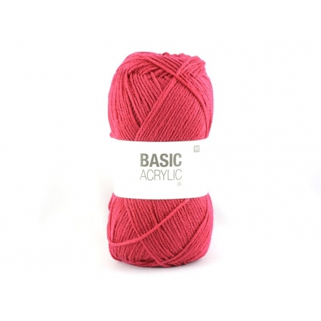 """Acheter Laine à tricoter """"Basic Acrylic"""" - framboise - 3,30€ en ligne sur La Petite Epicerie - 100% Loisirs créatifs"""