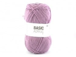 """Acheter Laine à tricoter """"Basic Acrylic"""" - mauve - 3,30€ en ligne sur La Petite Epicerie - 100% Loisirs créatifs"""