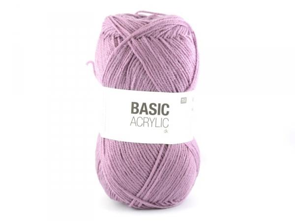 """Laine à tricoter """"Basic Acrylic"""" - mauve"""