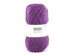 "Knitting wool - ""Basic Acrylic"" - plum"