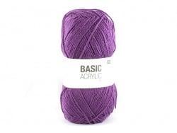 """Acheter Laine à tricoter """"Basic Acrylic"""" - prune - 3,30€ en ligne sur La Petite Epicerie - 100% Loisirs créatifs"""