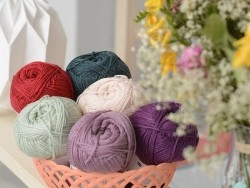 "Laine à tricoter ""Basic Acrylic"" - prune"