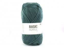 "Knitting wool - ""Basic Acrylic"" - petrol"