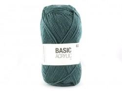 """Laine à tricoter """"Basic Acrylic"""" - pétrole"""